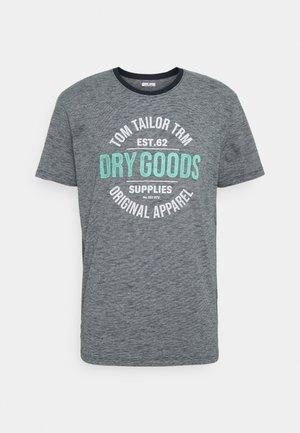 FINESTRIPED - T-shirt med print - dark blue