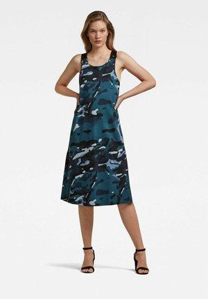 A-LINE DUNGAREE CAMO - Jersey dress - faze blue multi camo