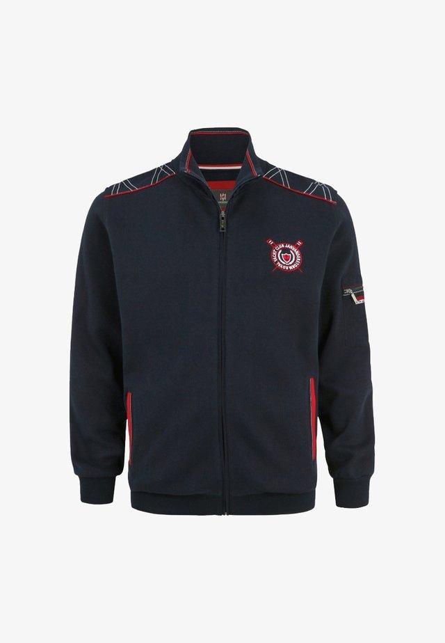 ATLI - veste en sweat zippée - dark blue