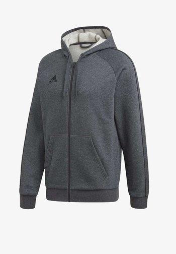CORE 19 HOODIE - Mikina na zip - grey