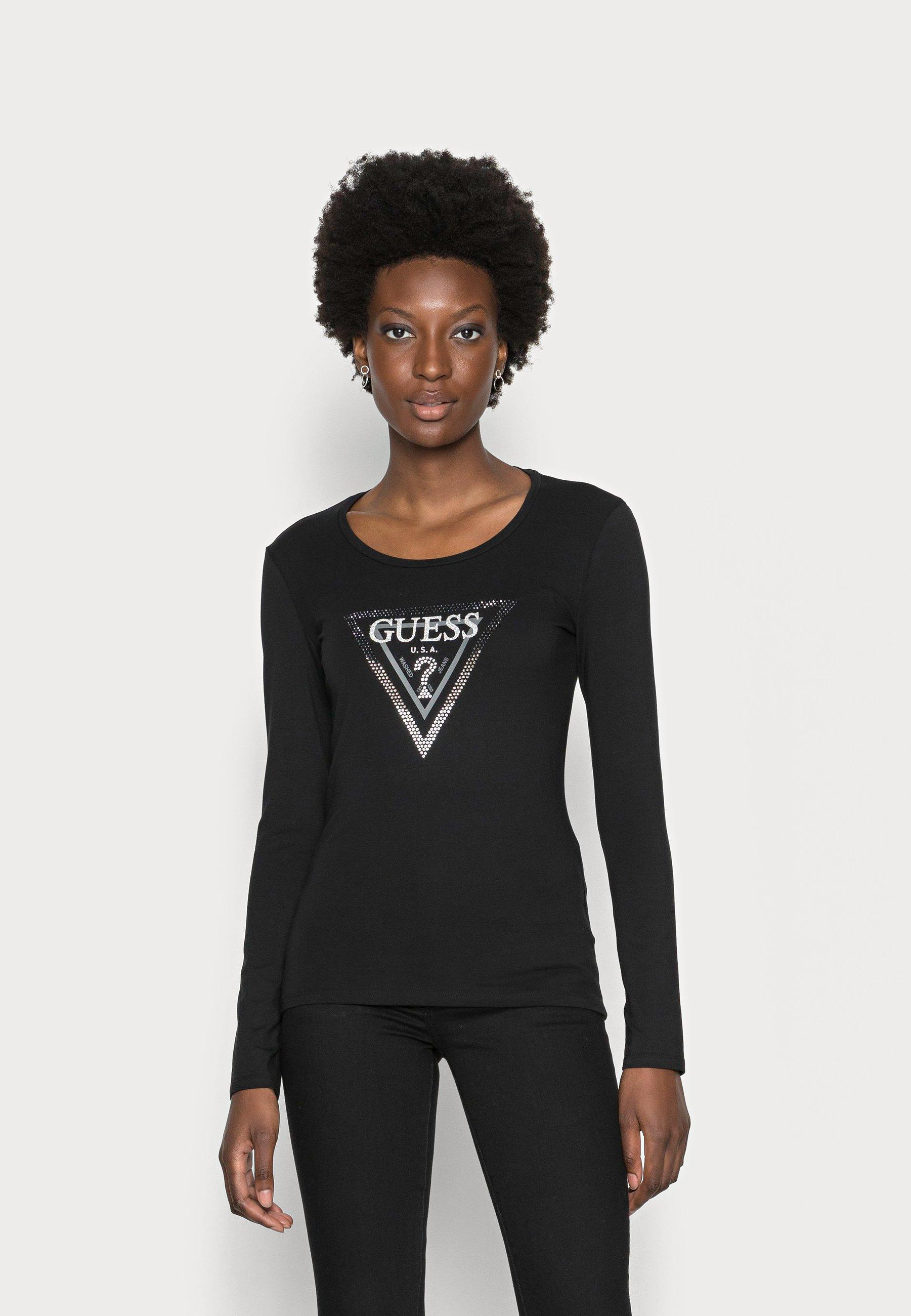 Women AMALUR TEE - Long sleeved top - jet black