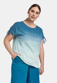 Samoon - T-shirt print - skylight gemustert - 0