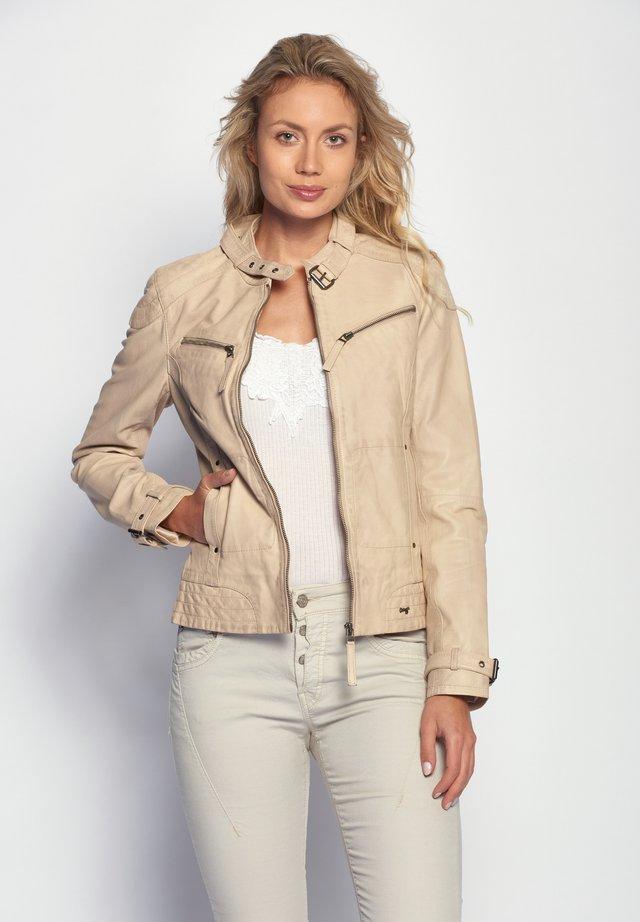 RYANA - Leren jas - beige