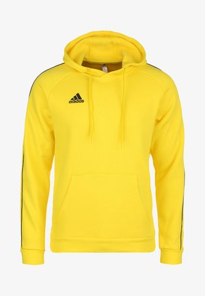 CORE ELEVEN FOOTBALL HOODIE SWEAT - Jersey con capucha - yellow