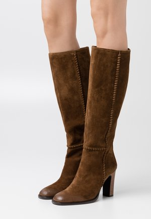 High heeled boots - corteccia