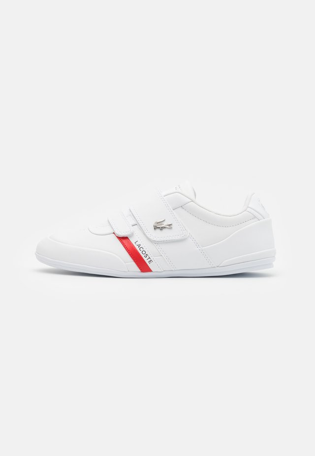 MISANO STRAP - Matalavartiset tennarit - white/red