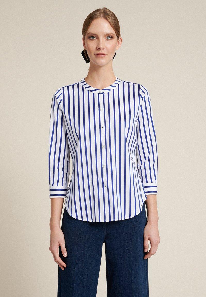 Luisa Spagnoli - BILANCIO - Button-down blouse - bianco/righe azzurre