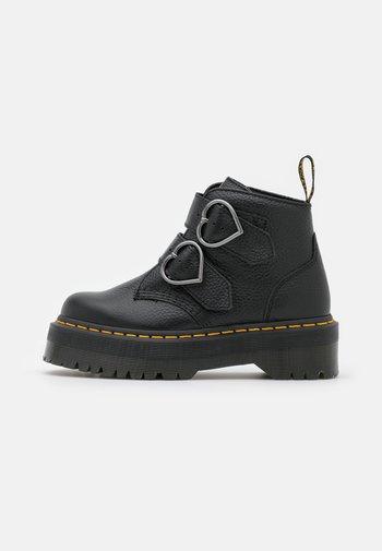 DEVON HEART - Platform ankle boots - black aunt sally