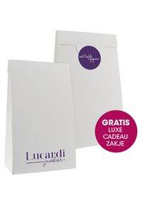 Lucardi - HART MET ROZE  - Oorbellen - silver coloured - 3