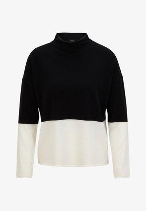 MIT COLOUR BLOCKING - Jumper - black knit