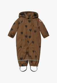 Mini Rodini - ALASKA HEARTS - Lyžařská kombinéza - brown - 3