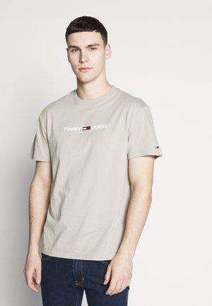 TJM STRAIGHT SMALL LOGO - T-shirt imprimé - stone