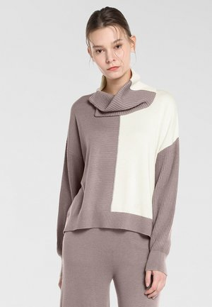 Pullover - taupe-champagner