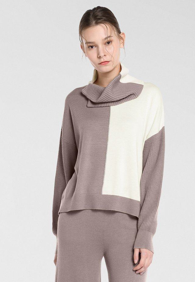 Jumper - taupe-champagner