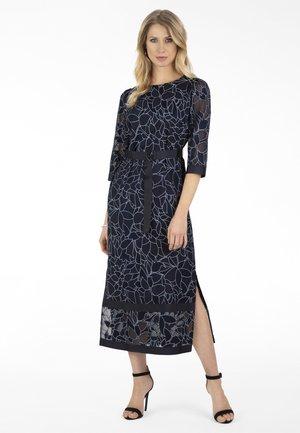 Maxi dress - nachtblau-creme