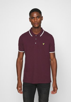TIPPED  - Piké - burgundy/ white