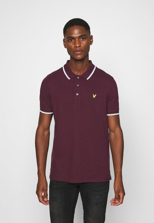 TIPPED  - Polo - burgundy/ white