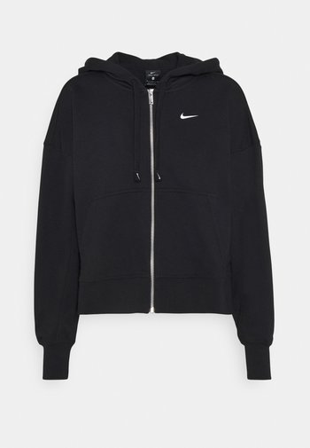 DRY GET FIT  - Zip-up sweatshirt - black/white