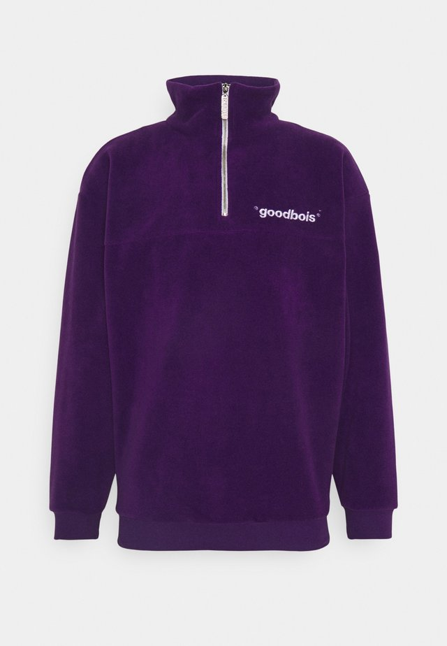 OFF HALFZIP - Felpa in pile - purple