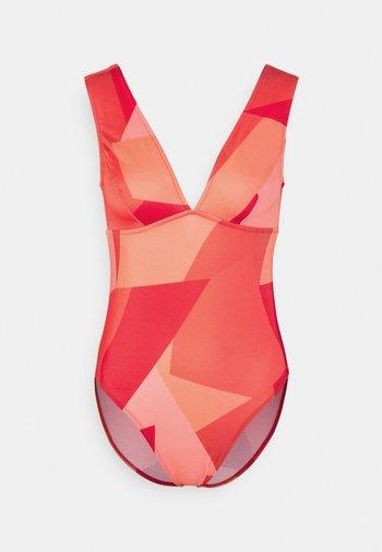 WOMEN SHORE KIRITIMATI - Swimsuit - red light combination