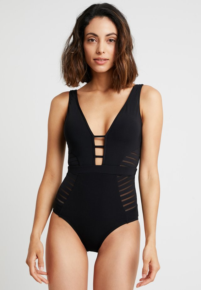 PLUNGE - Swimsuit - black