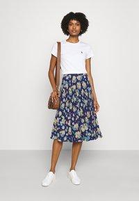 Lauren Ralph Lauren - DRAPEY SKIRT - A-line skirt - blue/multi - 1