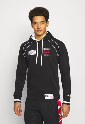 HOODED  - Sweatshirt - black/white