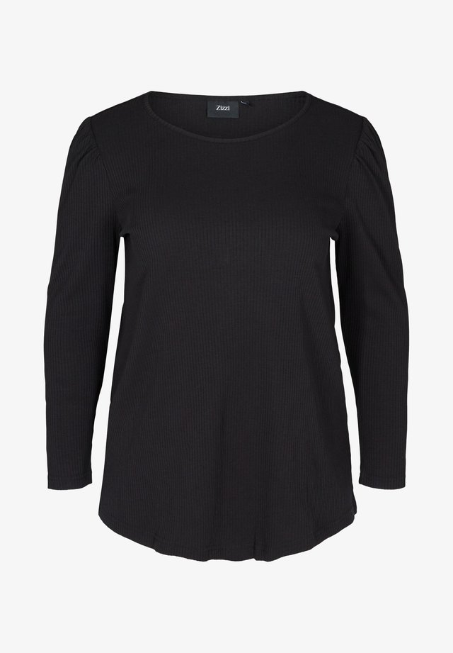 WITH PUFF SLEEVES - Pusero - black