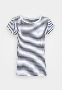 Mads Nørgaard - STRIPE TEASY - Print T-shirt - white/navy - 4