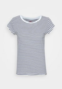STRIPE TEASY - Print T-shirt - white/navy