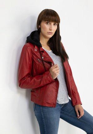 Leather jacket - rot