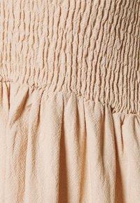 Glamorous - SMOCKED MIDI DRESSES WITH SHORT SLEEVES LOW V NECK - Day dress - stone - 2