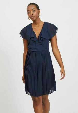 VIKATELYN PLEATED - Cocktail dress / Party dress - navy blazer