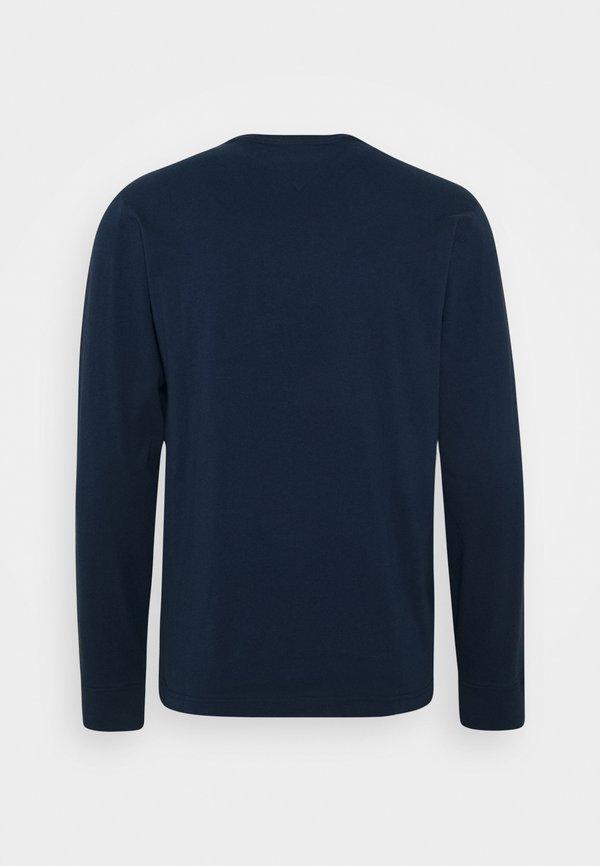 Tommy Jeans LONGSLEEVE LOGO TEE - Bluzka z długim rękawem - twilight navy Nadruk Odzież Damska YHYM NQ 6