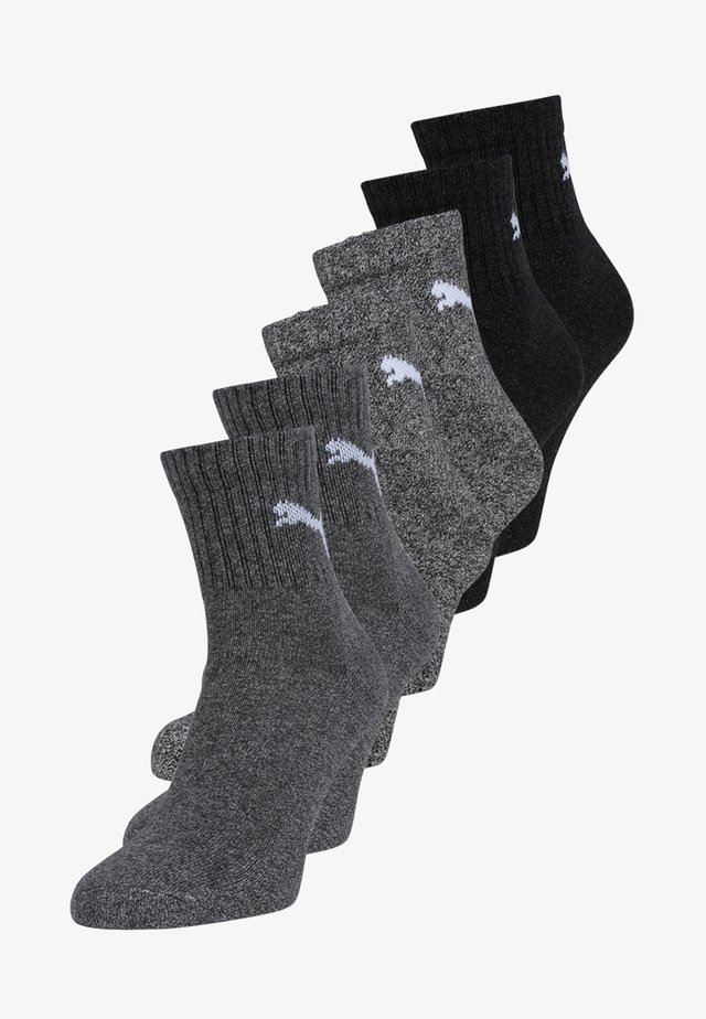6 PACK - Sports socks - anthracite/grey