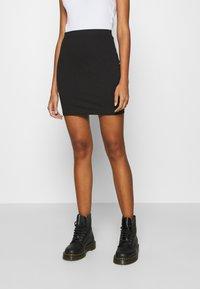 Even&Odd - 2 PACK - Minifalda - black/camel - 1