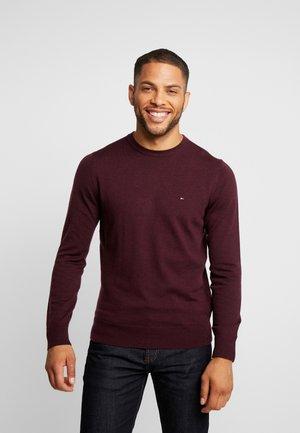 LUXURY - Stickad tröja - mottled bordeaux