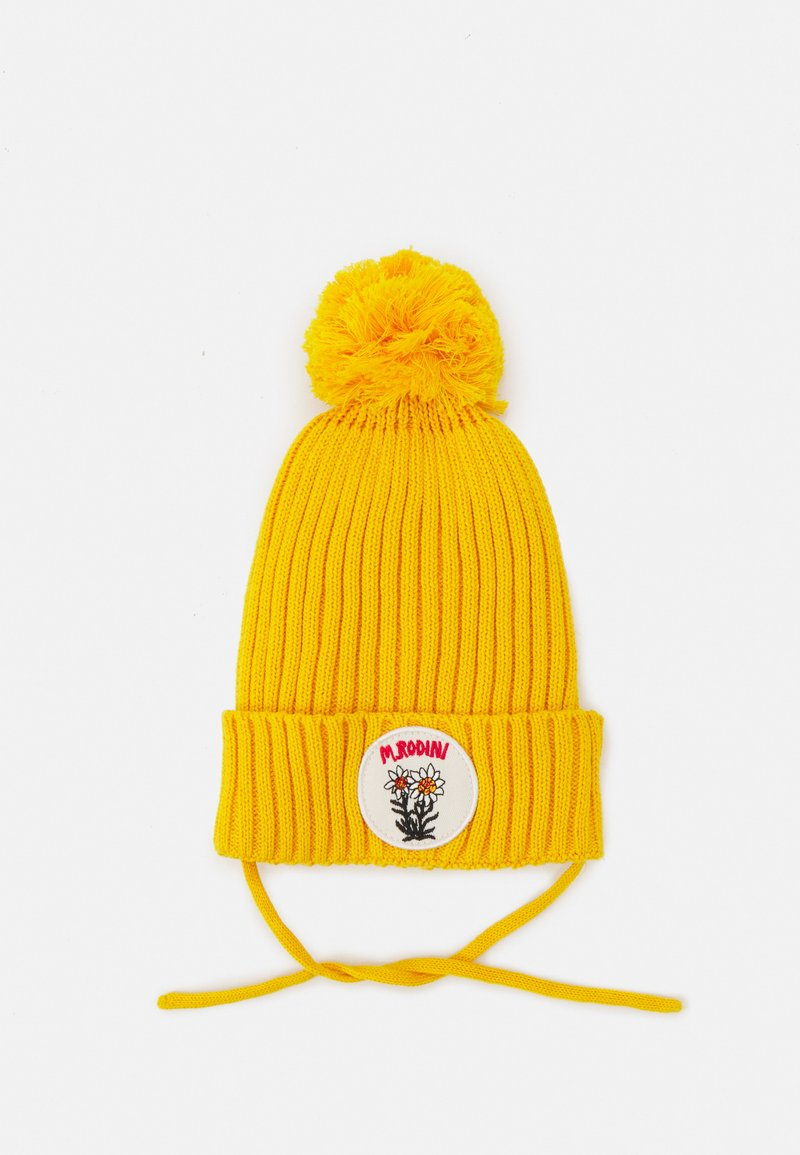 Mini Rodini - EDELWEISS POMPOM HAT UNISEX - Beanie - yellow