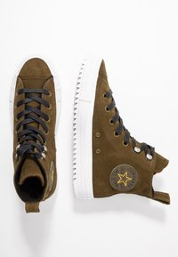 Converse - CHUCK TAYLOR ALL STAR HIKER FINAL FRONTIER - High-top trainers - surplus olive/white/black - 3