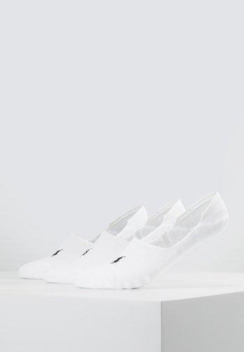 POLY BLEND 3 PACK - Trainer socks - white/black