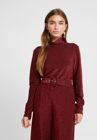VILA PETITE - VIGLAMY ROLLNECK - Long sleeved top - black/raspberry/tawny port - 0