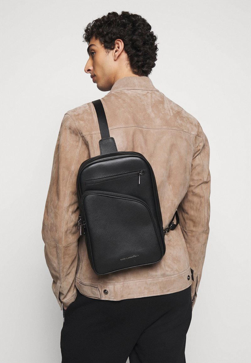 KARL LAGERFELD - CROSSBODY BAG UNISEX - Across body bag - black