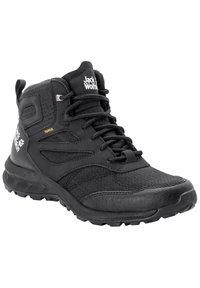 Jack Wolfskin - WOODLAND TEXAPORE MID - Hiking shoes - black - 1