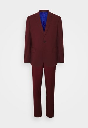 TAILORED FIT BUTTON SUIT SET - Dress - dark red