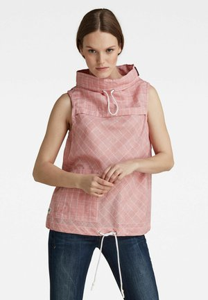 SLEEVELESS MOCK NECK - Blouse - dull berry adam check