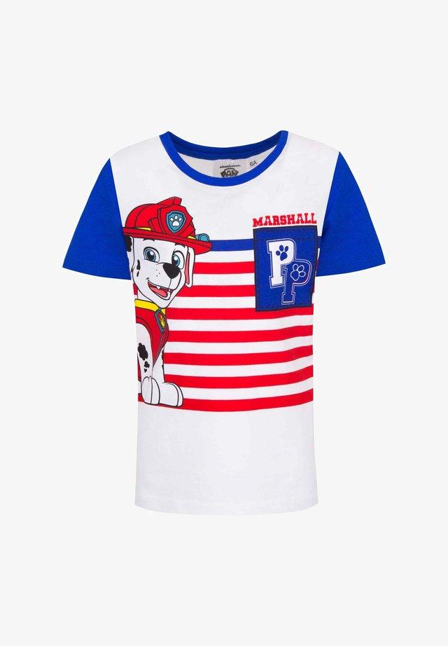 MARSHALL - Print T-shirt - blau