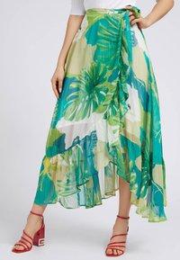 Guess - A-line skirt - mehrfarbig, grün - 0