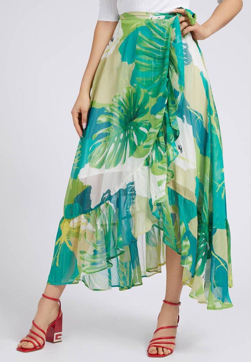 Guess - A-line skirt - mehrfarbig, grün
