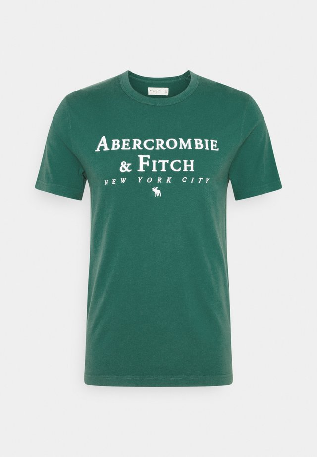 CROSS CHEST TECH - Print T-shirt - dark green