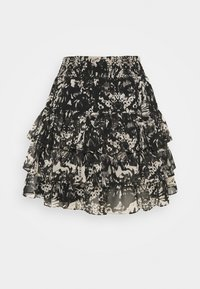 NIKKIE - RUFFLE SKIRT - Mini skirt - black - 6
